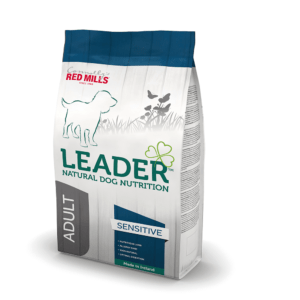 A bag of Connolly's red mills leader natural dog nutrition food for sensitive dogs. A best food to feed your dog