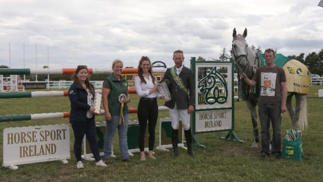 RED MILLS Rider Dermott Lennon wins TRM/HSI New Heights Champions Series at Tattersalls