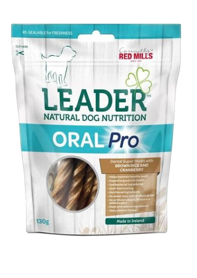 Red Mills Leader Oral Pro Dental Sticks – Brown Rice and Cranberry Flavour