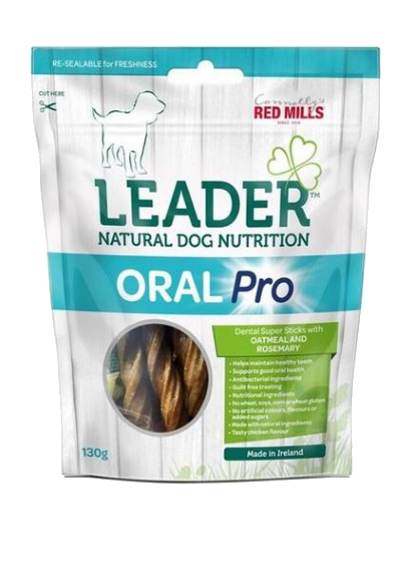 Red Mills Leader Oral Pro Dental Sticks – Oatmeal and Rosemary Flavour