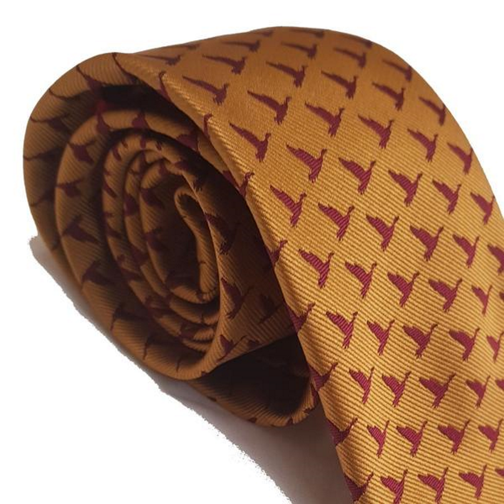 Red Mills Bird Print Tie