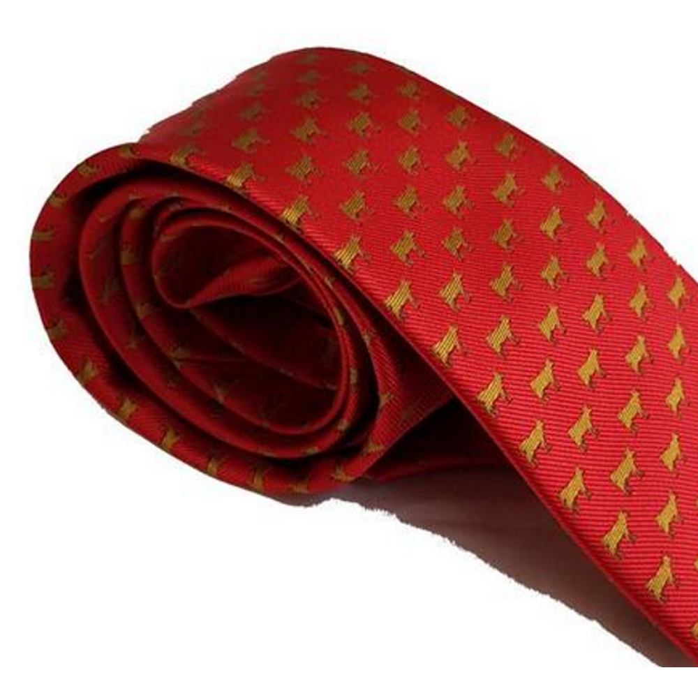 Red Mills Cow Print Tie