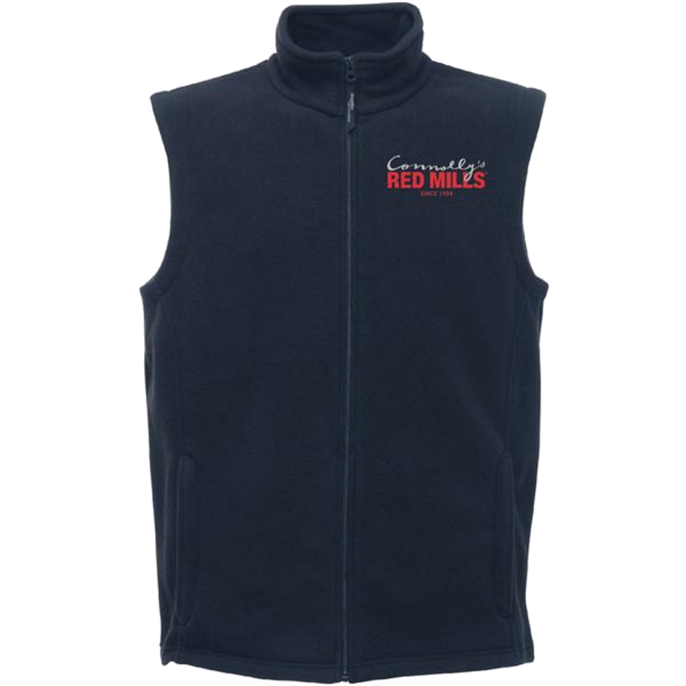 RED MILLS mens fleece gilet in navy